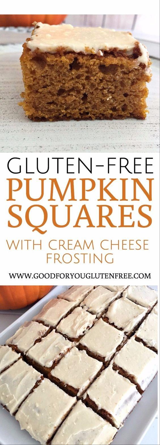 Gluten-Free Pumpkin Squares