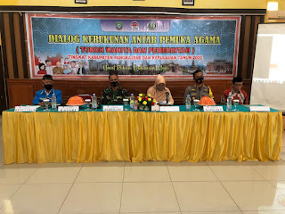 Kapolres Pangkep Hadiri Dialog Kerukunan Antar Pemuka Agama