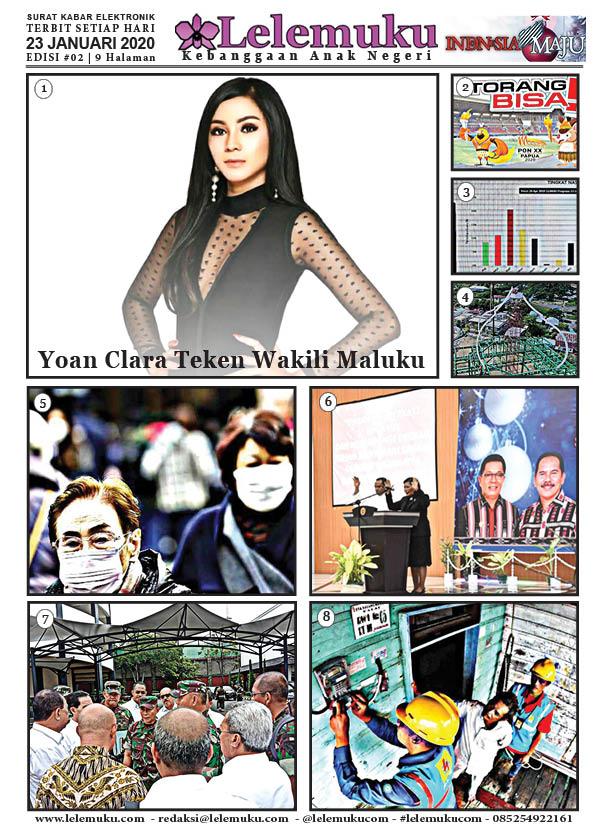 Harian Lelemuku #2 - Yoan Clara Teken Wakili Maluku - 23 Januari 2020