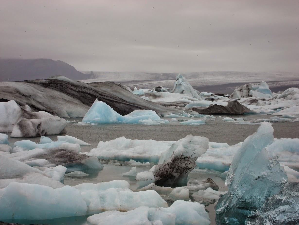 Islandia, jezioro, laguna lodowcowa, ice lagoon, krajobraz, zima, lodowiec