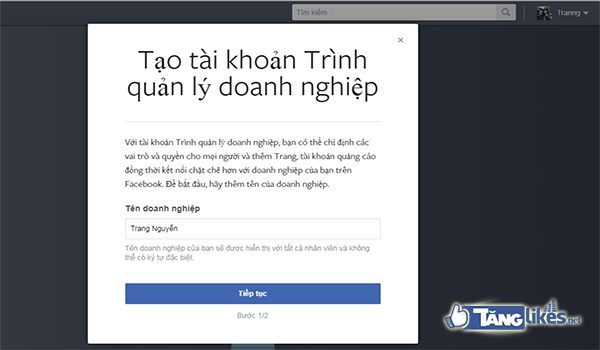 cach them fanpage vao trinh quan ly doanh nghiep facebook 2