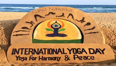 International yoga day sand art