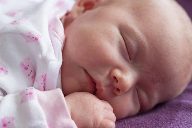 1 month old baby girl sleeping