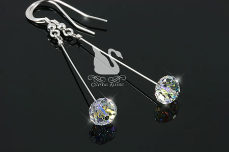 Crystal Ice Aurora Borealis Slider Earrings (EC262)