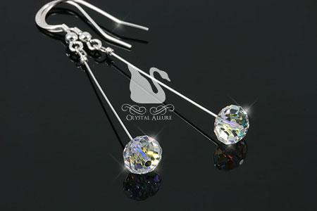 Crystal Ice Aurora Borealis Slider Earrings (EC262)