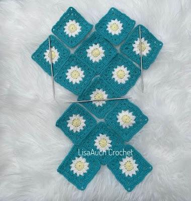 how to crochet a daisy granny square bag tutorial