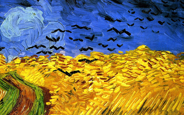 Vincent Van Gogh Crow Painting