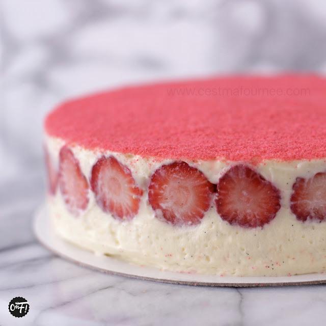 fraisier crème diplomate