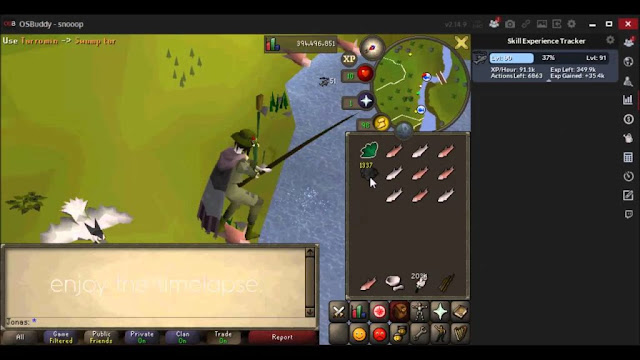 fishing training osrs
