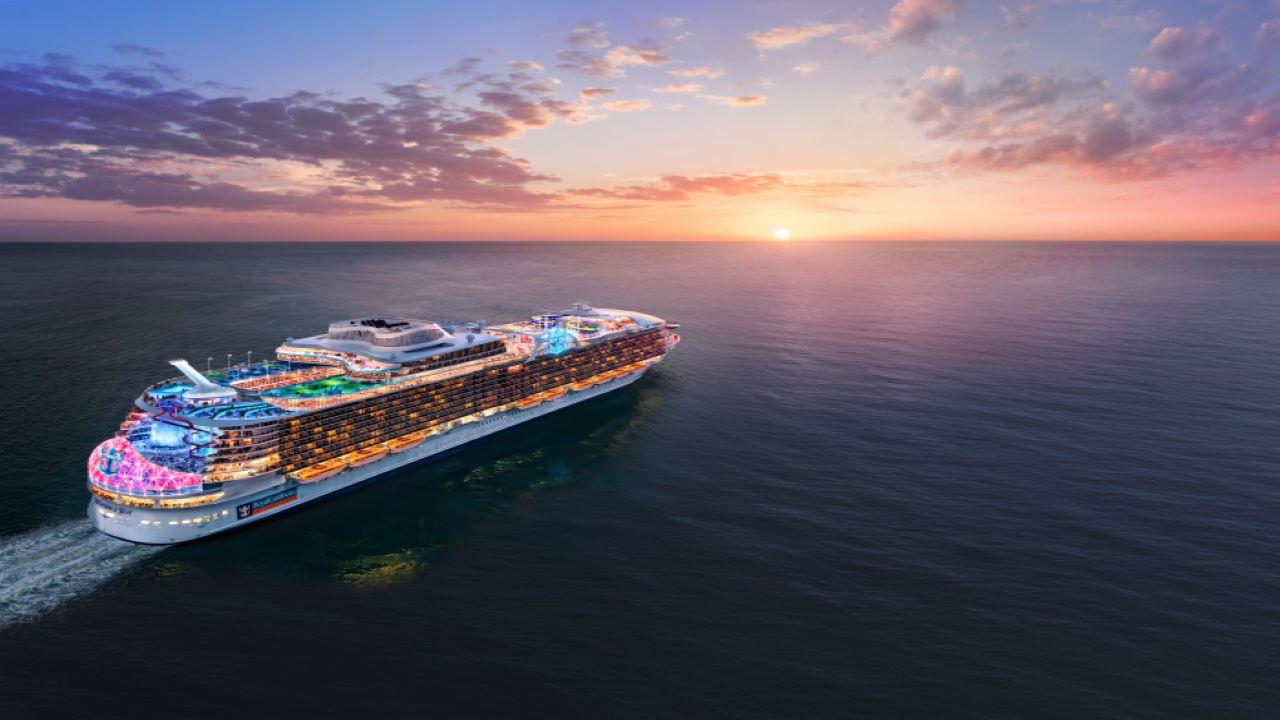 O maior navio de cruzeiro do mundo estreia nos Estados Unidos em 2022