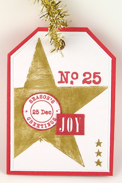 Darkroom Door Small Stencil Star Rubber Stamp Set Merry Mail Christmas Reindeer Tag