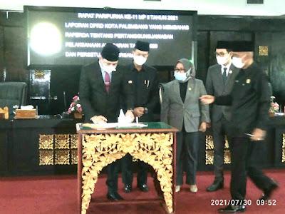 DPRD Kota Palembang Gelar Rapat Paripurna Istimewa Dengan Dua Agenda.