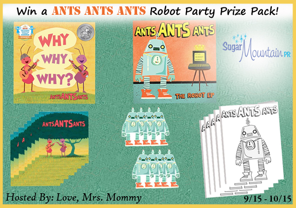 Ants Ants Ants Robot Party Prize Pack Giveaway