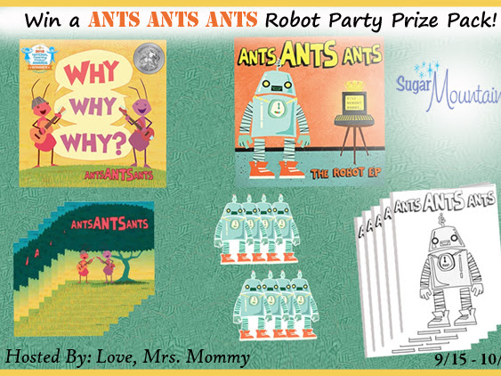 Ants Ants Ants Robot Party Prize Pack Giveaway! $50 RV!
