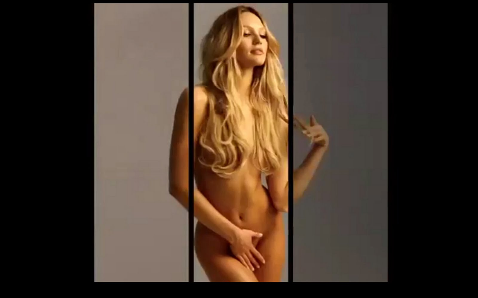 Candice swanepoel so sexy nude pussy was under