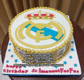 Fondant Birthday Cake Real Madrid Logo