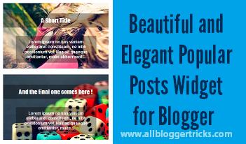 Popular Posts Blogger