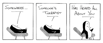 """Guin lying on couch: """"Somewhere, someone's therapist has heard all about you"""""""