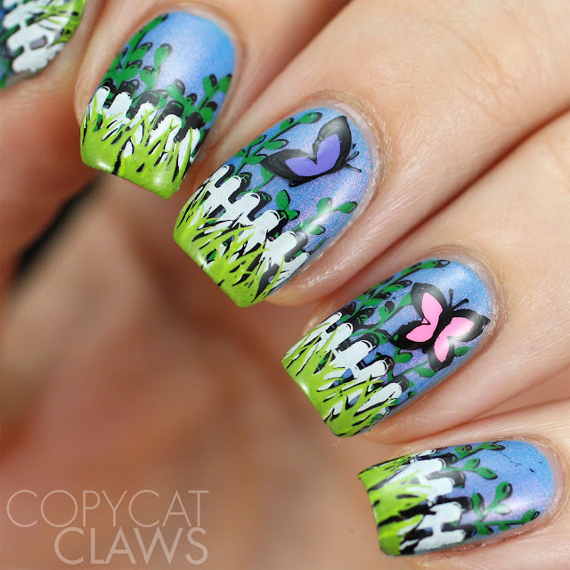 UberChic Beauty Garden Love nail stamping