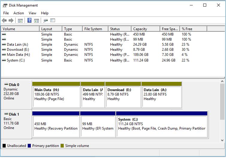 Setting Disk Management