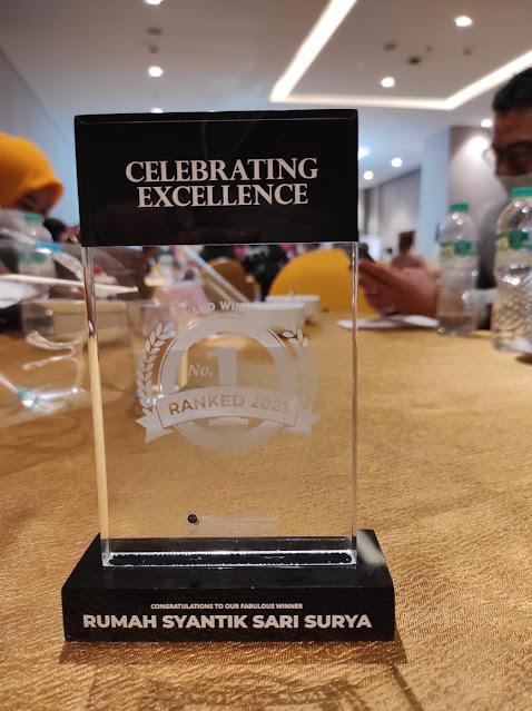 Rumah Syantik Sari Surya Meraih Penghargaan Indonesia Best Beauty and Healthy 2021