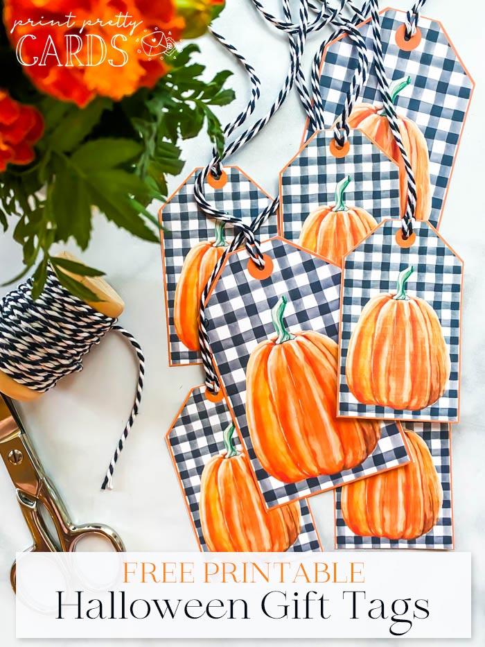 Halloween Gift Tags Printable
