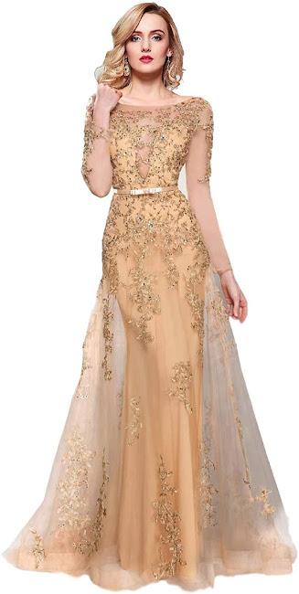Elegant Gold Mother of The Groom Dresses,