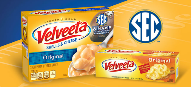 Velveeta Shells & Cheese is giving away a VIP Southeastern Conference Championship Game Experience to one lucky football fan and lots of instant win prizes, too!