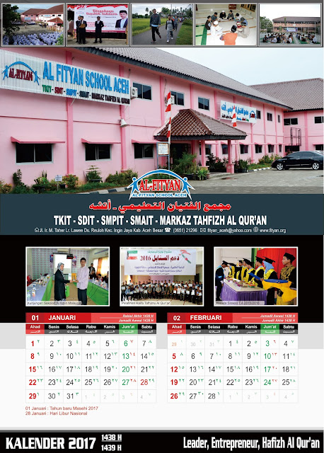 Template Kalender Sekolah Format CDR