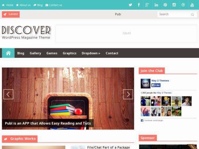 Discover Responsive Free Blogger Template