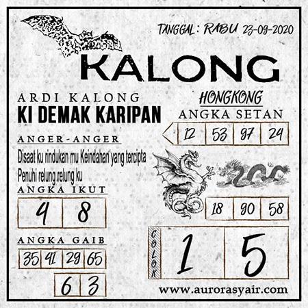 Syair Kalong HK Rabu