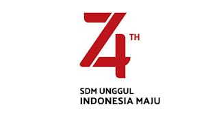 Logo HUT RI ke-74 Terbaru