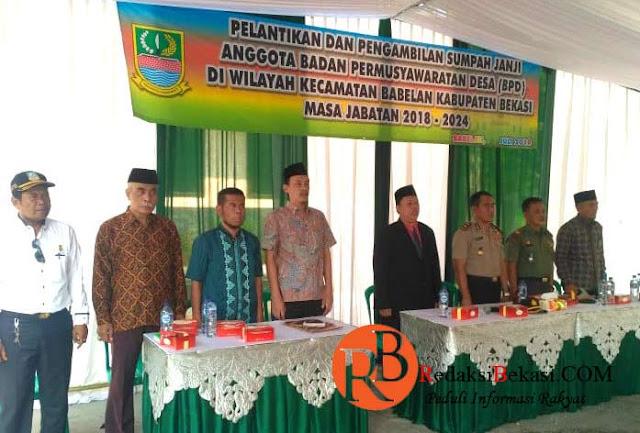Deny mulyadi Lantik Anggota BPD Terpilih Se Kecamatan Babelan