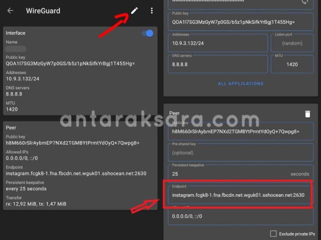 Edit Wireguard
