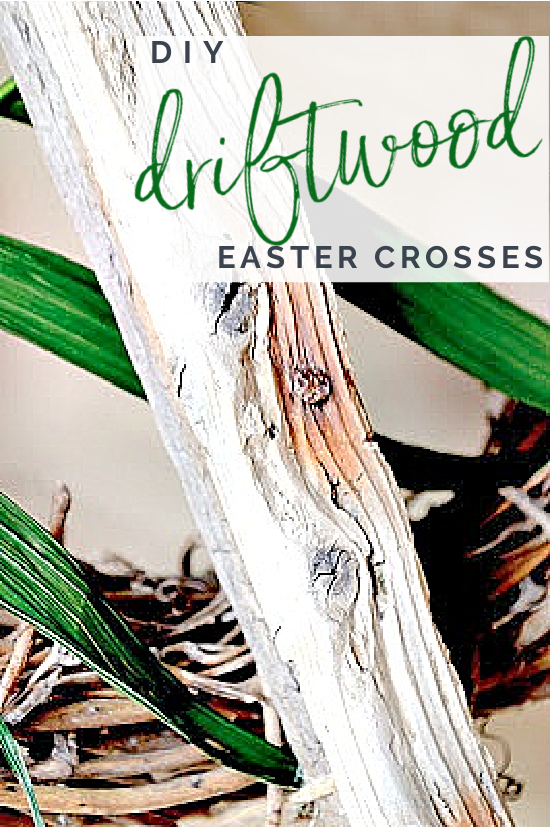 Pinterest overlay on rusty driftwood stick