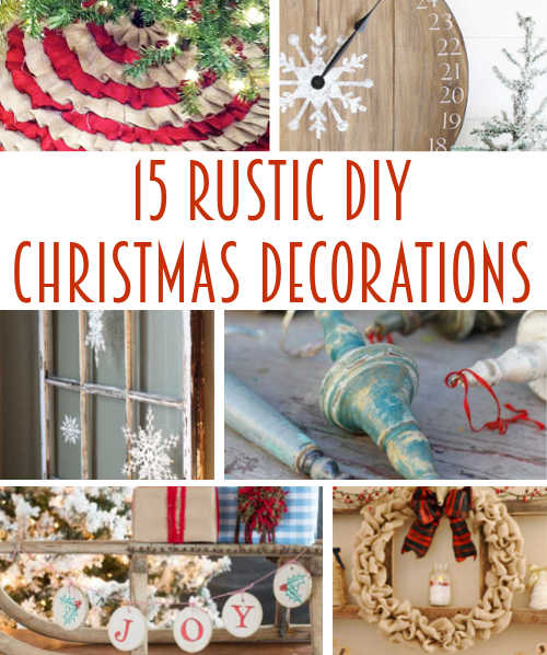 Diy home sweet home 15 rustic farmhouse christmas decorations for B q christmas decorations