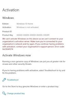 يتلقى المستخدمون أحيانًا رمز الخطأ 0xC004f074 عند محاولة تنشيط نظام تشغيل Windows. هذا ال خطأ تنشيط Windows يحدث ذلك عندما يتعذر على Windows الوصول إلى خدمة التنشيط أو مسؤول نظام شركتك (أو خدمة إدارة المفاتيح غير متوفرة). يمكن أن يحدث هذا الخطأ بسبب الاختلافات بين عميل KMS ومضيفي KMS ، ويمكن أن يحدث أثناء تثبيت Windows أو بعده. يمكن أن يحدث رمز الخطأ 0xC004f074 أيضًا إذا قام المستخدم بتنزيل إصدار غير قانوني (مقرصن) من نظام التشغيل Windows.