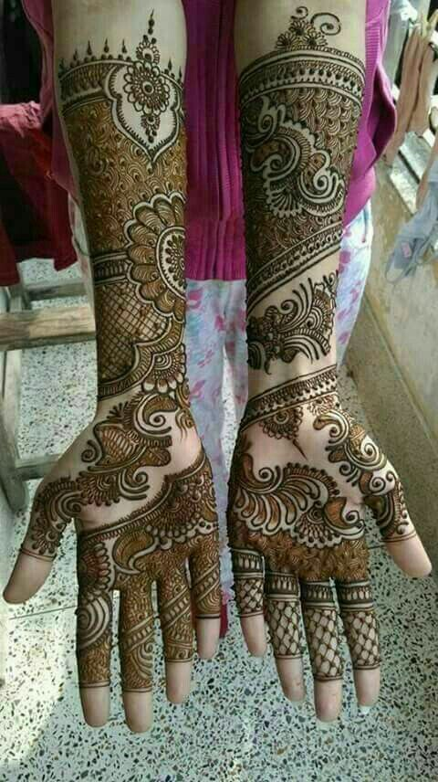 24 Latest Arabic Mehndi Designs For Full Hands Intricate