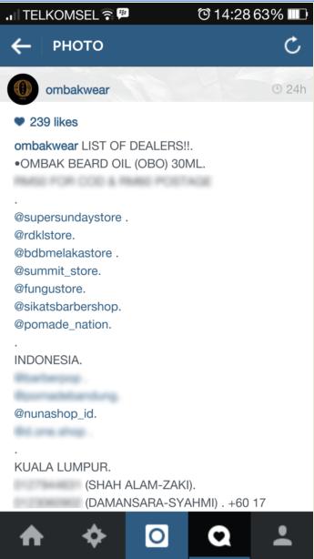 Ombak Beard Oil - Dealers dan Distributor Resmi Nuna Shop Sudah Diakui Sama Brewernya Malaysia