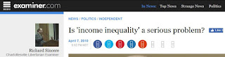 income inequality Examiner.com Rick Sincere