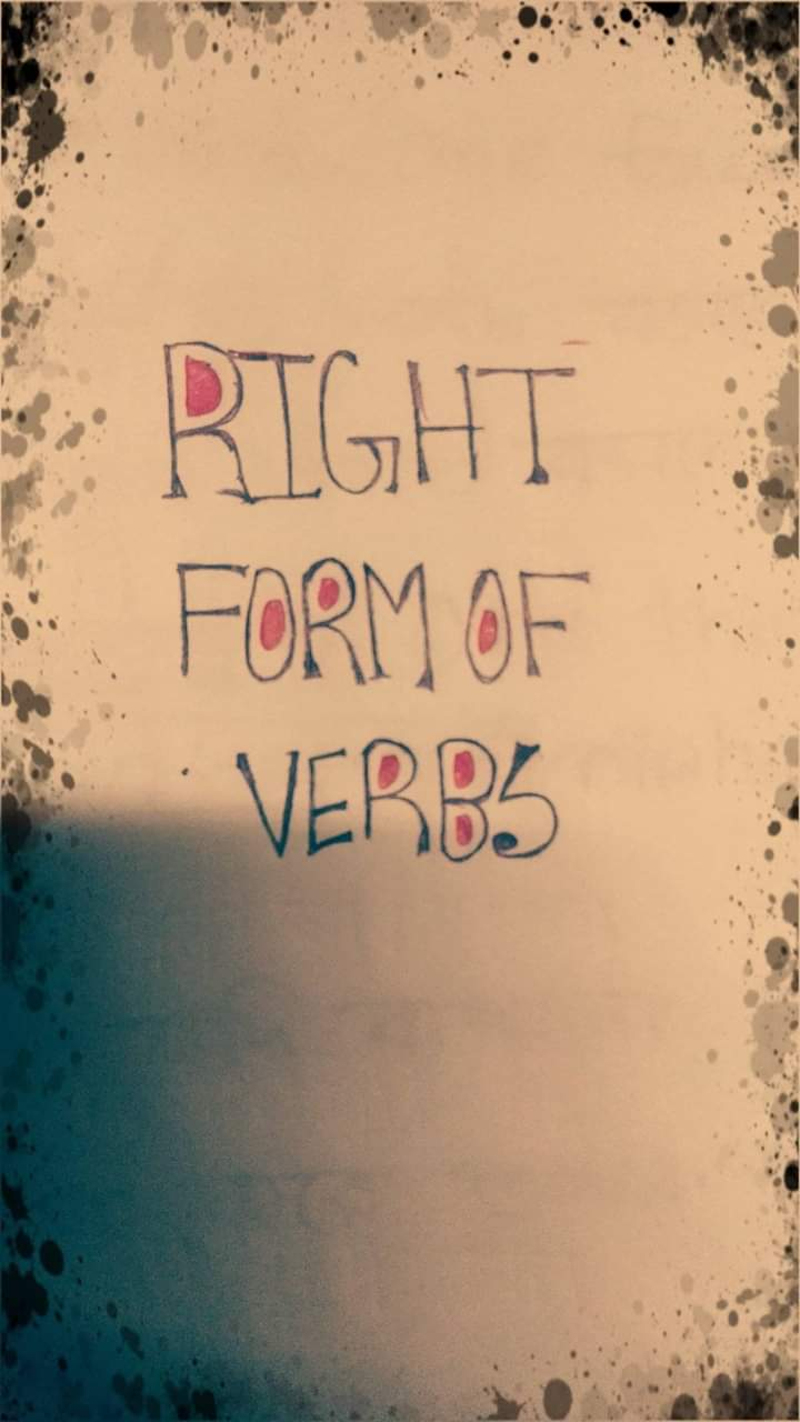 SSC,HSC English 2nd paper-Right from of verbs (17 rules) pdf