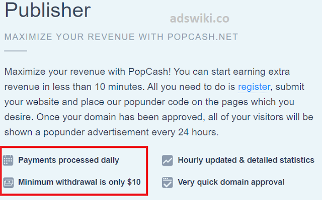 ad network daily payments