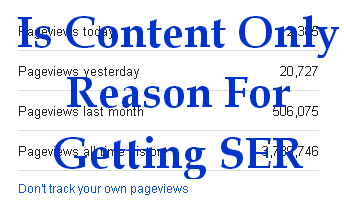 Is Content Only Reason For Getting Search Engine Results ! NO