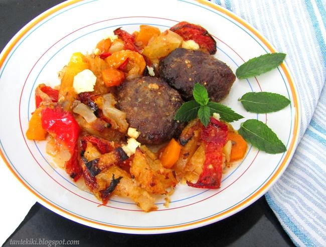 Μπιφτέκια φούρνου με λαχανικά
