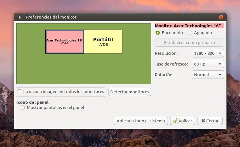 Configurar una pantalla externa en Ubuntu Mate - El Blog de HiiARA