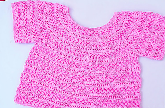 4 - Crochet Imagen Cuerpo de blusa y jarsey a crochet por Majovel Crochet