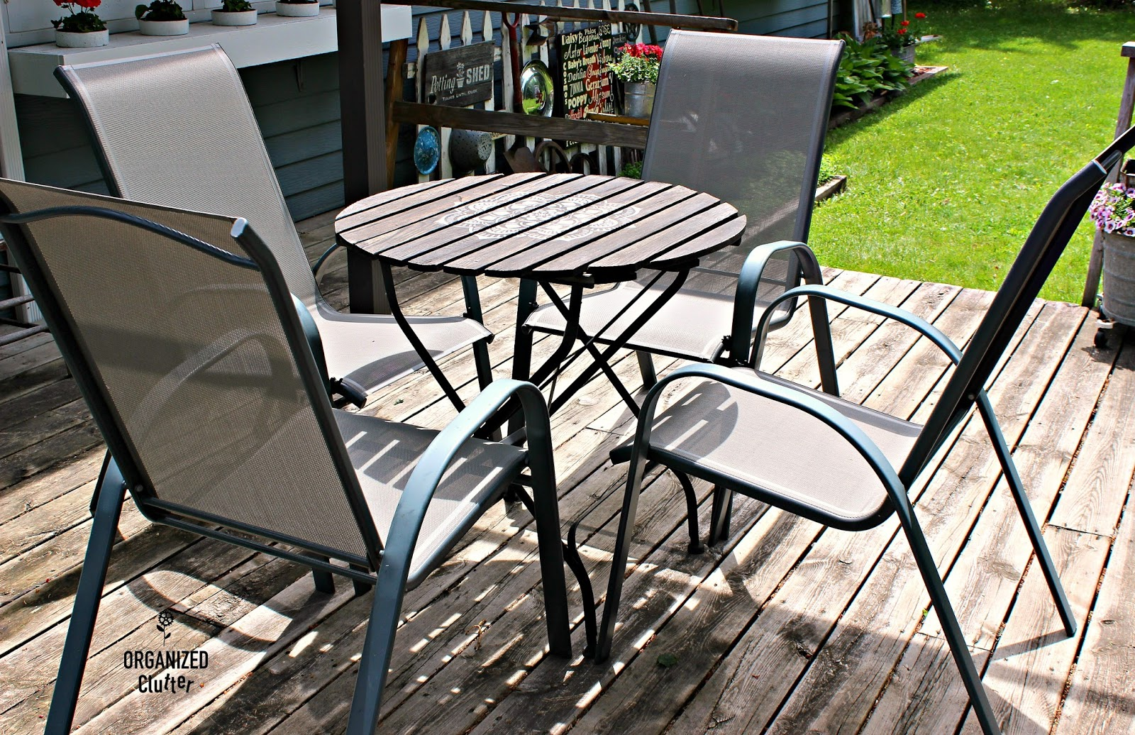 Fresh My older daughter purchased four gray stacking sling chairs from Target for my Mother us Day gift These chairs are so easy care