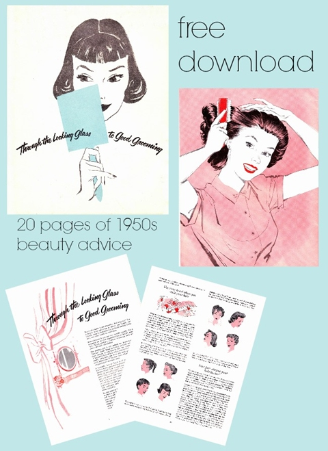 free vintage beauty tutorial book download