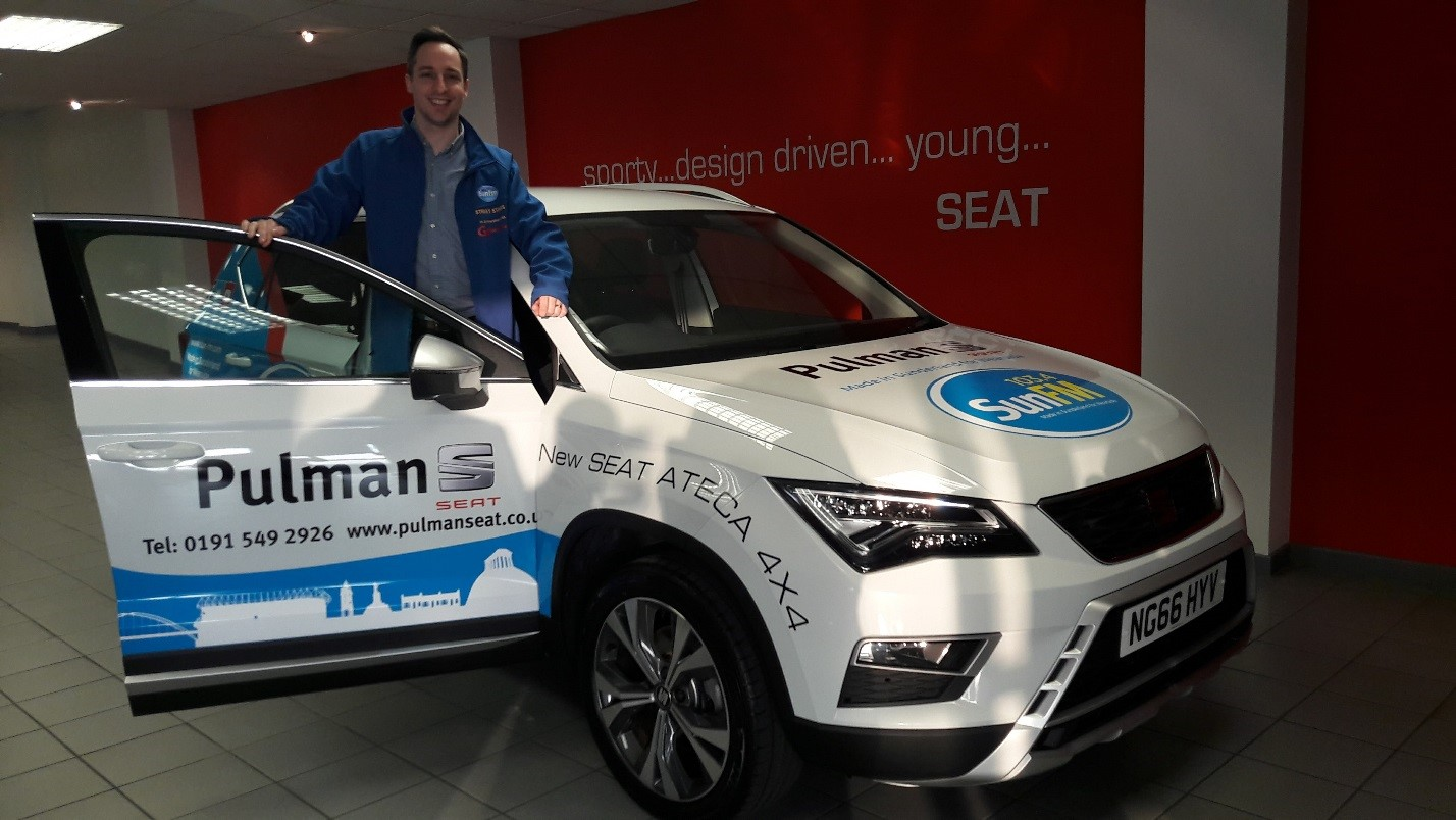 Sunderland duo Pulman SEAT and 103.4 Sun FM once again team up!