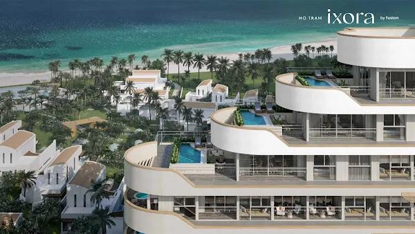 thiết kế căn hộ trong dự án ixora Hồ Tràm, nổi bật và dẹp mắt với hướng nhìn ra biển Hồ Tràm